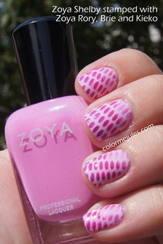 Color Me Jules: Zoya Shelby stamped with Zoya Rory, Brie and Kieko