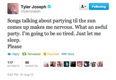 "thottbh: ""kpiper17: "" He just gets me. "" and at that moment i swear we were, Tyler Joseph """