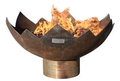 These sculptural fire bowls are designed by artist John Unger. Each is individually hand-cut using a plasma torch at temperatures hotter than the sun and guaranteed to last for generations. Propane Fire Bowl, Outdoor Propane Fire Pit, Fire Pit Bowl, Fire Bowls, Fire Pits, Plasma Torch, Outdoor Living, Outdoor Decor, Fireplace Mantle