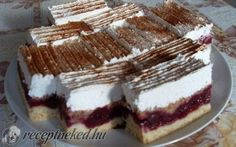Tűzoltó szelet recept fotóval Hungarian Recipes, Cake Bars, Holiday Dinner, Something Sweet, Sweet And Salty, Mini Cakes, Nutella, Cookie Recipes, Food And Drink