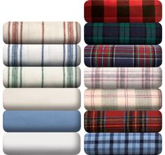 Portuguese Flannel Blanket Sheets, Vermont Country Store