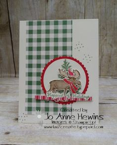 Create Christmas Cards, Stampin Up Christmas, Xmas Cards, Holiday Cards, Christmas Moose, Christmas Holidays, Christmas Animals, Happy Holidays, Stamping Up Cards