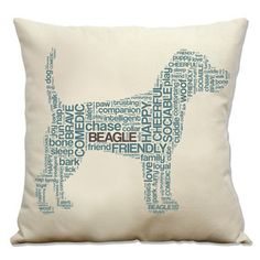 Beagle Pillow, $27, now featured on Fab.