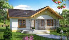 Everything in a house is not about size. Simple, modern and extremely gorgeous. This collection of 2 bedroom house plans define simplicity, style and function. House Floor Design, Bungalow House Design, Small House Design, Village House Design, Village Houses, Small Cottage Designs, House Construction Plan, 2 Bedroom House Plans, Cottage Plan