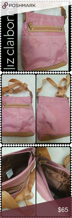 Liz Claiborne Crossbody Bag Liz Claiborne Signature Bag in Classic Style Crossbody Pink  Shade! Top Main Zipper Closure Opens to Lined Interior with Zipped Pocket and Slip Pockets! Adjustable Crossbody Strap, Approx Size 9x10x2 inches, New without tag! Liz Claiborne Bags Crossbody Bags