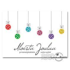 Joulukortit - Pienet joulupallot