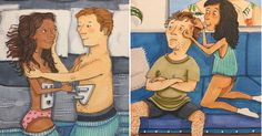 Estos dibujos captan a la perfección cómo es el amor en pareja cuando nadie mira