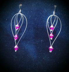 Boucles d'oreilles (diamants rose)