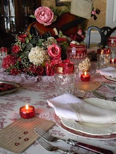 Nancy's Daily Dish: Valentines Day Table Setting