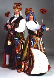 King and Queen of Hearts Alice in Wonderland men women costume