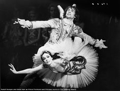 nationalballet:  Throwback Thursday: Artistic Director Karen Kain with the legendary Rudolf Nureyev in The Sleeping Beautycirca 1974. The Sleeping Beauty closes the 2014/15 season and is onstage June 10—20. Click here to learn more about the upcoming ballet.