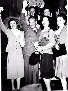 War bond tour with Greer Garson, Ronald Colman, Hedy Lamarr, Joan Leslie or Janet Blair, and Irene Dunne in 1941.