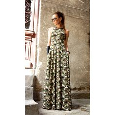 New 2016 Hot Camouflage Maxi Dress Kaftan Viscose Dress Sexy Open Bag... (155 BGN) via Polyvore featuring tops, tunics, black, dresses, women's clothing, long kaftan, plus size tunics, women plus size tops, long caftan and womens plus size tunics