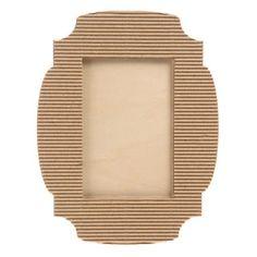 Corrugated Cardboard Picture Frames: Fancy 4x6 Cardboard Photo Frames