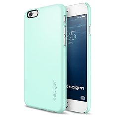 iPhone 6 Case, Spigen® [Perfect-Fit] iPhone 6 (4.7) Case Slim **NEW** [Fit Series] [Thin Fit] [Mint] Premium Matte Hard Case - ECO-Friendly Packaging - Slim Case for iPhone 6 (4.7) (2014) - Mint (SGP10938) Spigen http://www.amazon.com/dp/B00JH8812U/ref=cm_sw_r_pi_dp_zsggub1NWJ4RV