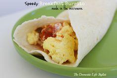 Speedy Breakfast Burrito. Takes only 3 minutes to make!