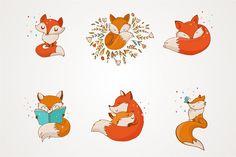 Fox - cute characters - Illustrations - 2