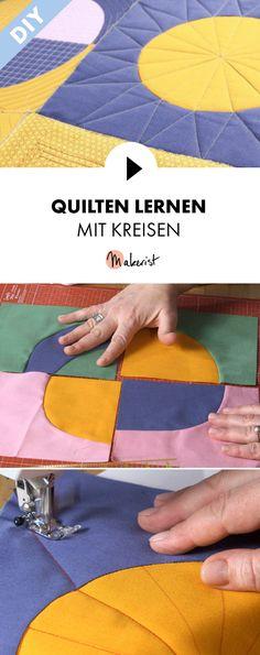 Quilten mit Kreisen - Schritt für Schritt erklärt im Video-Kurs via Makerist.de