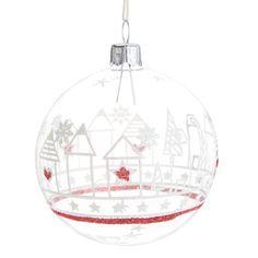 Pallina di Natale decorativa Casa nordica   - Venduto x 6