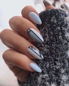Beautiful Nail Designs To Finish Your Wardrobe – Your Beautiful Nails Classy Nails, Stylish Nails, Simple Nails, Trendy Nails, Aycrlic Nails, Hot Nails, Nail Manicure, Hair And Nails, Almond Acrylic Nails