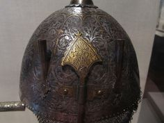 Iran 18th century Steel, engraved and overlaid with gold and silver