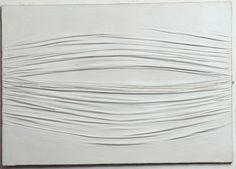 "Piero Manzoni [Italy] (1933-1963) ~ ""Achrome"", 1959. Kaolin on canvas (69 × 99 cm). | #art #painting #abstract #achrome"