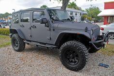 Matte Grey Vinyl Wrapped Jeep Wrangler | Flickr - Photo Sharing!