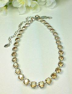 Swarovski Crystal Necklace   Designer Inspired   by CathieNilson