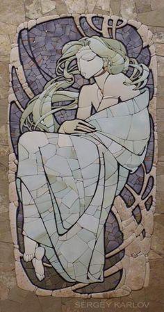 Stone mosaic by Sergey Karlov