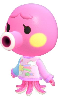 """Which """"Animal Crossing"""" Character Are You Based On The Cozy Bedroom You Design? Animal Crossing Wiki, Animal Crossing Villagers, Pink Animals, Cute Animals, City Folk, Chibi, New Leaf, My Animal, Octopus"""