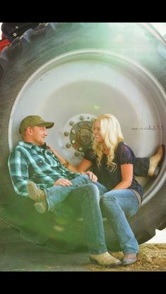 country engagement photo on the tractor tire Couple Photography, Engagement Photography, Wedding Photography, Photography Ideas, Country Couples, Cute Couples, Engagement Couple, Wedding Engagement, Engagement Ideas