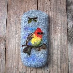 Items similar to Grey sunglasses case sunglasses box spectacles case wool eyeglasses pouch bird eyeglasses case felted case for sunglasses eyewear. on Etsy Felt Case, Etsy Shop Names, Unique Gifts For Her, Etsy Seller, Bird, Wool, Handmade Gifts, Eyeglasses, Eyewear