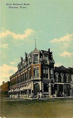 Denison Texas TX 1907 State National Bank Collectible Antique Vintage Postcard