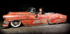 Beautiful patina on this 53(?) Chevy Belair Convertible!