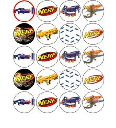Nerf-x-20-Cupcake-Toppers-Approx-1-8 eBay