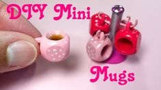 DIY Miniature Doll Mugs - YouTube