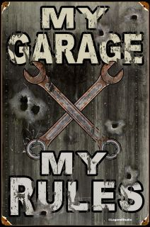 Click to find out more about My Garage - My Rules Sign