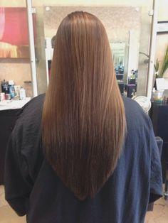 V shaped layered haircut for long hair