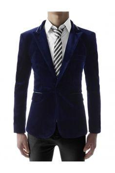 Bilderesultat for slim fit low rise suit pants korean dark blue