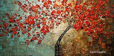 Original Oil Painting modern impasto texture palette by swanstudio