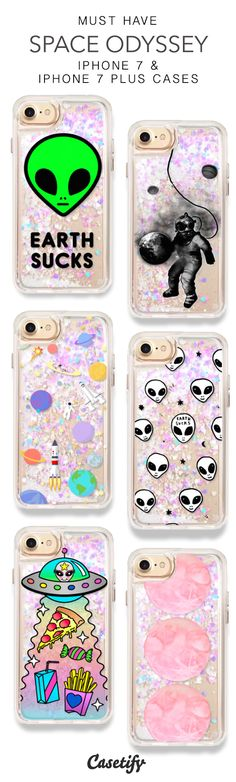Most Popular Space Odyssey iPhone 7 Cases & iPhone 7 Plus Cases. More Protective Liquid Glitter Space iPhone case here > https://www.casetify.com/en_US/collections/iphone-7-glitter-cases#/?vc=OknEt6kUmj