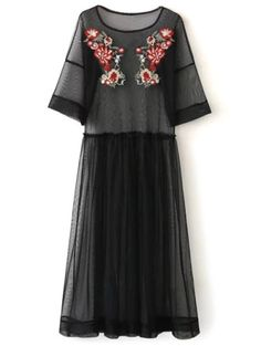 SHARE & Get it FREE | See Thru Tulle Embroidered Maxi DressFor Fashion Lovers only:80,000+ Items • New Arrivals Daily Join Zaful: Get YOUR $50 NOW!
