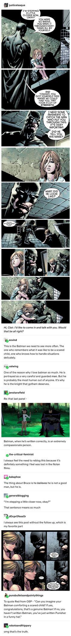 Batman comic strips Punisher quotes Bruce Wayne superheroes DCAU animation animated series show Child children comforting Dc Comics, Batman Comics, Fandoms, Xmen, Nananana Batman, Hq Dc, What Is Digital, Im Batman, Superman
