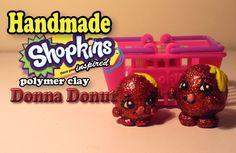 TUTORIAL: Polymer Clay Shopkins - Donna Donut