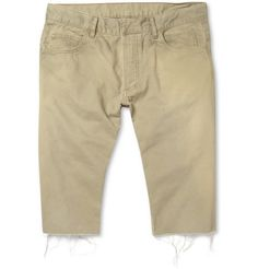 Balmain Raw-Edged Cotton-Twill Shorts | MR PORTER