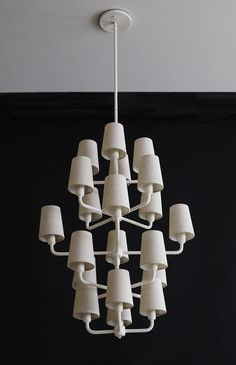 5-Tiered Rope Chandelier in Natural White