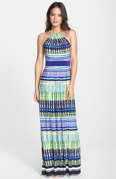 Eliza J Print Jersey Maxi Dress available at #Nordstrom