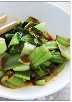 Bok Choy with Miso Dressing