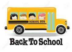 Back To School bus w/ kids Stock Vector - 6308674