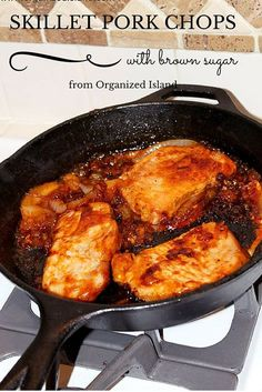 Pork chops with a tangy brown sugar sauce made on your stove top in a single skillet!